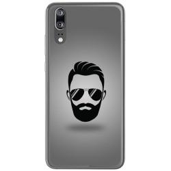 Funda Gel Tpu para Huawei P20 Diseño Barba Dibujos