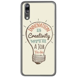 Funda Gel Tpu para Huawei P20 Diseño Creativity Dibujos