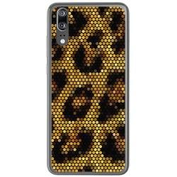 Funda Gel Tpu para Huawei P20 Diseño Leopardo Dibujos