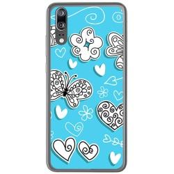Funda Gel Tpu para Huawei P20 Diseño Mariposas Dibujos
