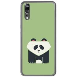 Funda Gel Tpu para Huawei P20 Diseño Panda Dibujos