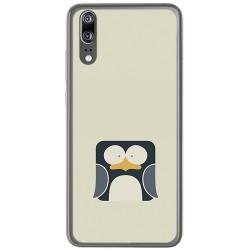 Funda Gel Tpu para Huawei P20 Diseño Pingüino Dibujos