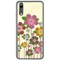 Funda Gel Tpu para Huawei P20 Diseño Primavera En Flor Dibujos