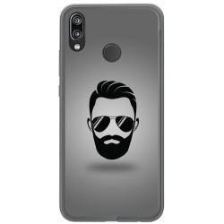 Funda Gel Tpu para Huawei P20 Lite Diseño Barba Dibujos