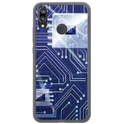 Funda Gel Tpu para Huawei P20 Lite Diseño Circuito Dibujos