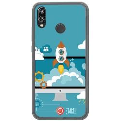Funda Gel Tpu para Huawei P20 Lite Diseño Cohete Dibujos