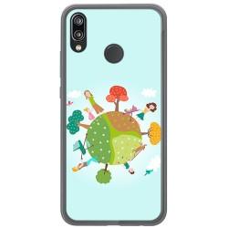 Funda Gel Tpu para Huawei P20 Lite Diseño Familia Dibujos