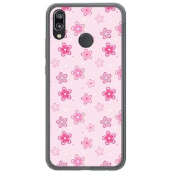 Funda Gel Tpu para Huawei P20 Lite Diseño Flores Dibujos