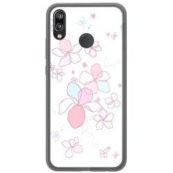 Funda Gel Tpu para Huawei P20 Lite Diseño Flores Minimal Dibujos