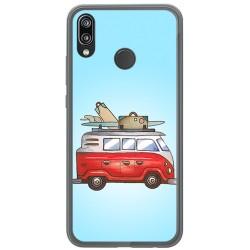 Funda Gel Tpu para Huawei P20 Lite Diseño Furgoneta Dibujos