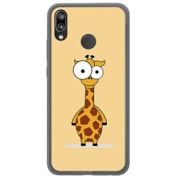 Funda Gel Tpu para Huawei P20 Lite Diseño Jirafa Dibujos