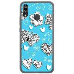 Funda Gel Tpu para Huawei P20 Lite Diseño Mariposas Dibujos
