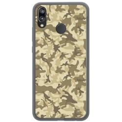 Funda Gel Tpu para Huawei P20 Lite Diseño Sand Camuflaje Dibujos