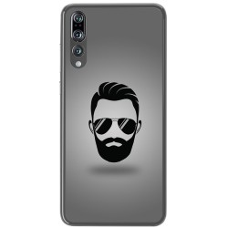 Funda Gel Tpu para Huawei P20 Pro Diseño Barba Dibujos
