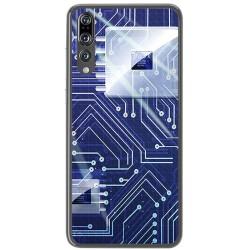 Funda Gel Tpu para Huawei P20 Pro Diseño Circuito Dibujos
