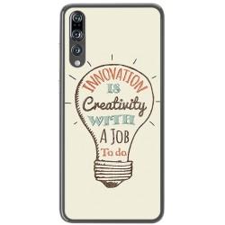 Funda Gel Tpu para Huawei P20 Pro Diseño Creativity Dibujos