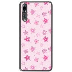 Funda Gel Tpu para Huawei P20 Pro Diseño Flores Dibujos