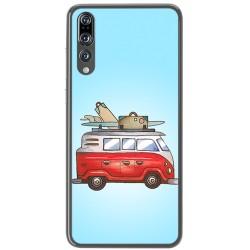 Funda Gel Tpu para Huawei P20 Pro Diseño Furgoneta Dibujos