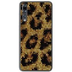 Funda Gel Tpu para Huawei P20 Pro Diseño Leopardo Dibujos