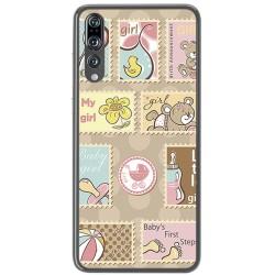 Funda Gel Tpu para Huawei P20 Pro Diseño Sellos Dibujos