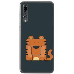 Funda Gel Tpu para Huawei P20 Pro Diseño Tigre Dibujos