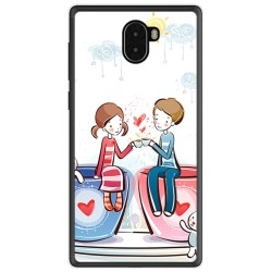 Funda Gel Tpu para Leagoo Kiicaa Mix Diseño Cafe Dibujos