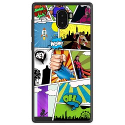 Funda Gel Tpu para Leagoo Kiicaa Mix Diseño Comic Dibujos