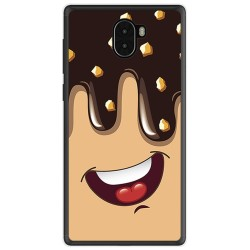 Funda Gel Tpu para Leagoo Kiicaa Mix Diseño Helado Chocolate Dibujos
