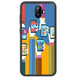 Funda Gel Tpu para Ulefone S7 / S7 Pro Diseño Apps Dibujos