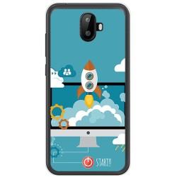 Funda Gel Tpu para Ulefone S7 / S7 Pro Diseño Cohete Dibujos