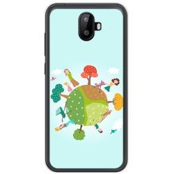 Funda Gel Tpu para Ulefone S7 / S7 Pro Diseño Familia Dibujos