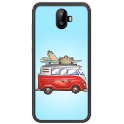Funda Gel Tpu para Ulefone S7 / S7 Pro Diseño Furgoneta Dibujos