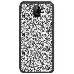 Funda Gel Tpu para Ulefone S7 / S7 Pro Diseño Letras Dibujos