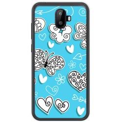 Funda Gel Tpu para Ulefone S7 / S7 Pro Diseño Mariposas Dibujos