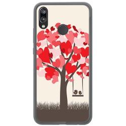 Funda Gel Tpu para Huawei P20 Lite Diseño Pajaritos Dibujos