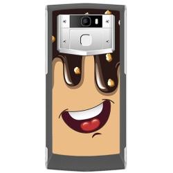 Funda Gel Tpu para Oukitel K10000 Pro Diseño Helado Chocolate Dibujos