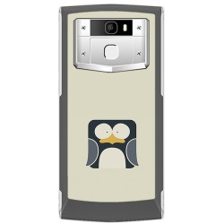 Funda Gel Tpu para Oukitel K10000 Pro Diseño Pingüino Dibujos