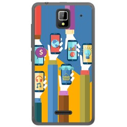 Funda Gel Tpu para Orange Rise 33 Diseño Apps Dibujos
