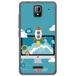 Funda Gel Tpu para Orange Rise 33 Diseño Cohete Dibujos