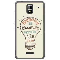 Funda Gel Tpu para Orange Rise 33 Diseño Creativity Dibujos