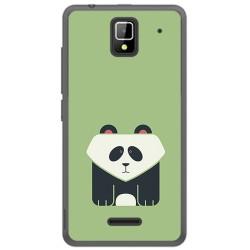 Funda Gel Tpu para Orange Rise 33 Diseño Panda Dibujos