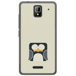 Funda Gel Tpu para Orange Rise 33 Diseño Pingüino Dibujos