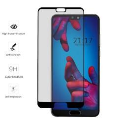 Protector Cristal Templado Frontal Completo Negro para Huawei P20  Vidrio