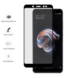 Protector Cristal Templado Frontal Completo Negro para Xiaomi Redmi Note 5 / Note 5 Pro Vidrio
