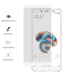 Protector Cristal Templado Frontal Completo Blanco para Xiaomi Redmi Note 5 / Note 5 Pro Vidrio