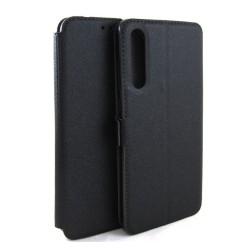 Funda Soporte Piel Negra para Huawei P20 Pro Flip Libro
