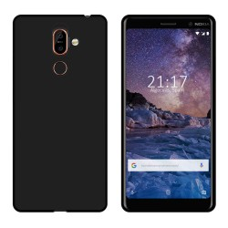 Funda Gel Tpu para Nokia 7 Plus Color Negra