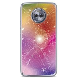 Funda Gel Tpu para Motorola Moto X4 Diseño Abstracto Dibujos