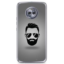Funda Gel Tpu para Motorola Moto X4 Diseño Barba Dibujos