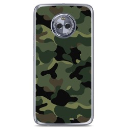 Funda Gel Tpu para Motorola Moto X4 Diseño Camuflaje Dibujos